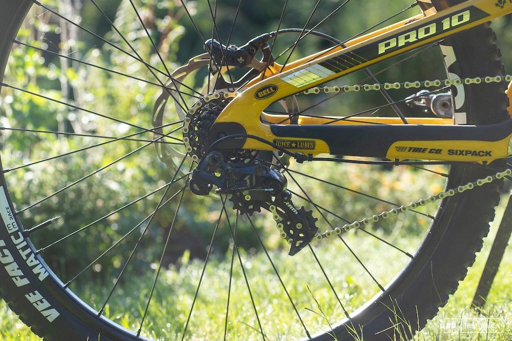 SRAM X01 DH provides seven gears