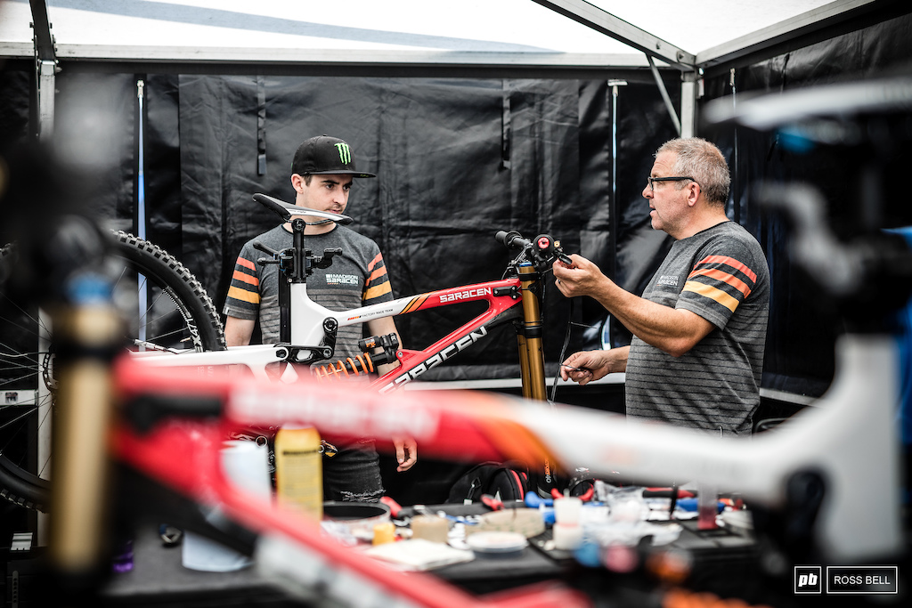 Dave and Danny talk setup. Hart is always one to watch here and had red hot pace at the British National a few weeks ago.