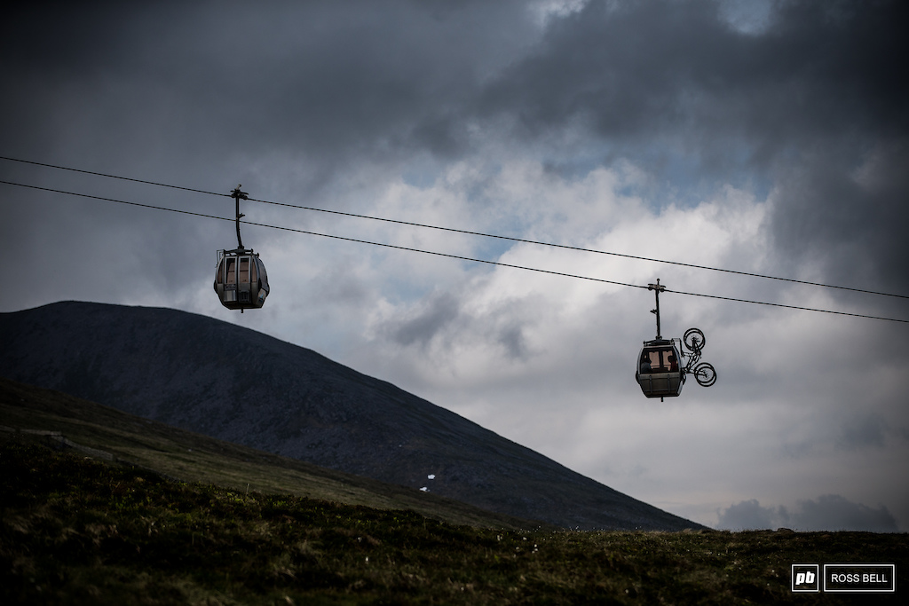 The classic view under the gondolas and over to Ben Nevis.