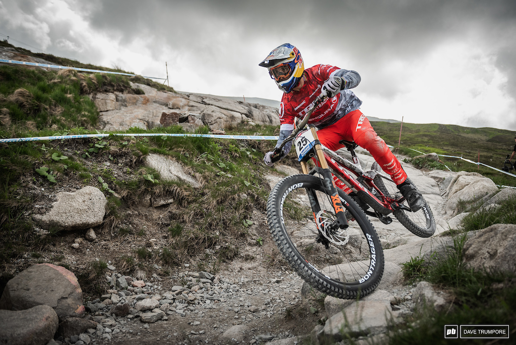 Gee Atherton has had a return to form this week and has been looking extremely fast on track.