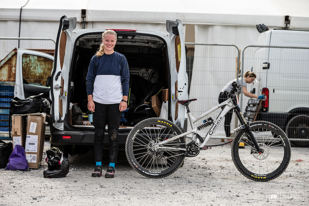 Frida Ronning from Norway and her Canfield downhill prototype.