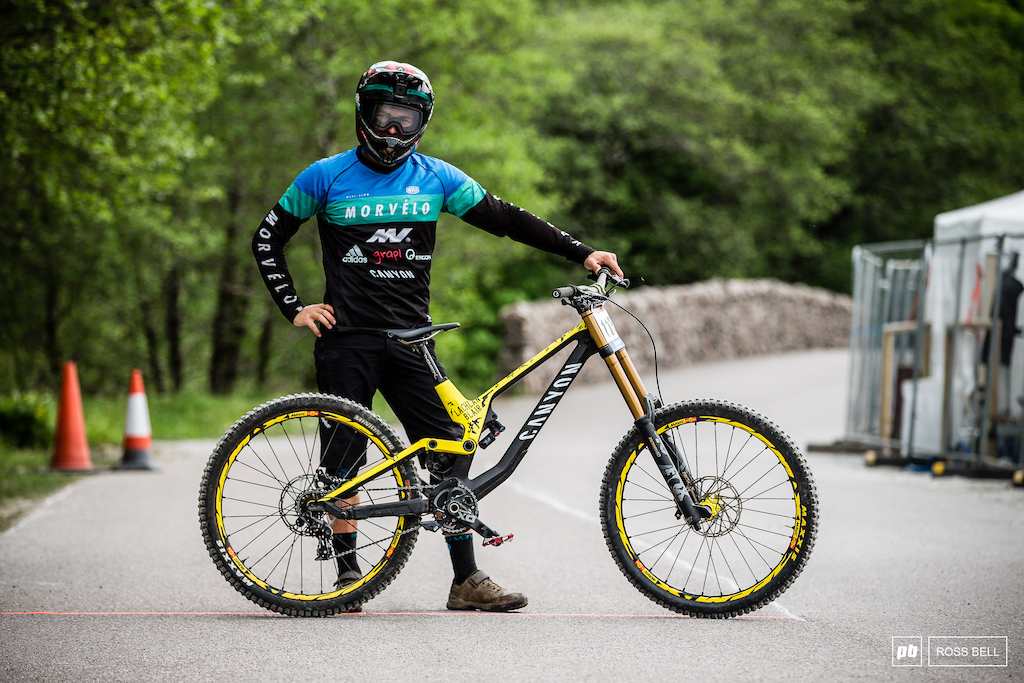 Lachlan Blair from Scotland and his Canyon Sender.