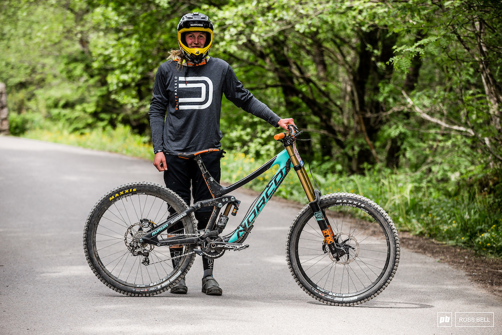 Sian A Hern from Australia and her Norco Aurum.