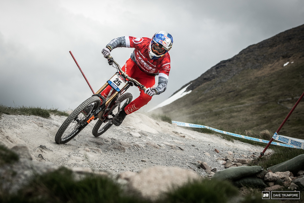 ee Atherton is very much in the ix here in Fort William and will be a podium threat on Sunday.