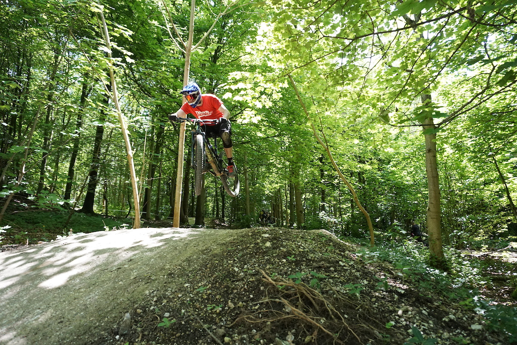 Royal Racing sponsored rider Alex Bell throwing down at Tidworth Freeride on the new Whiteline