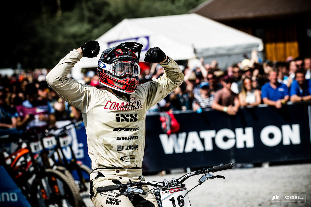 Sheer elation. It all came together for Pierron today.