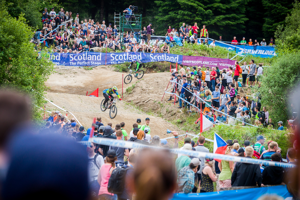 Saturdays practice and racing during round 3 of the 2018 4X Pro Tour at Nevis Range, Fort William, Scotland, United Kingdom on June 02 2018. Photo: Charles A Robertson