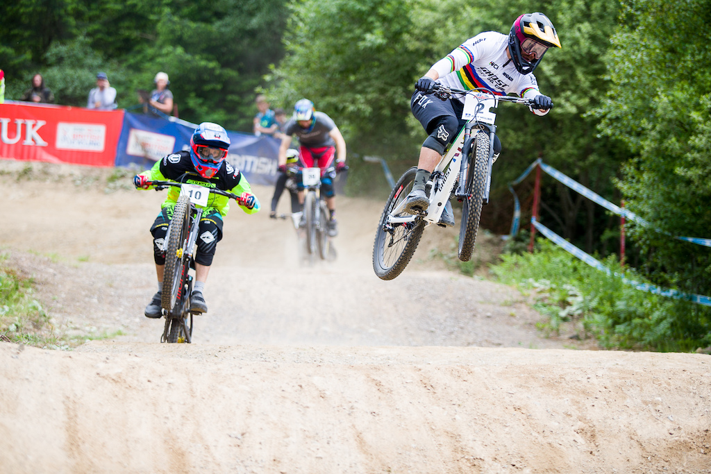 Saturdays practice and racing during round 3 of the 2018 4X Pro Tour at Nevis Range Fort William Scotland United Kingdom on June 02 2018. Photo Charles A Robertson