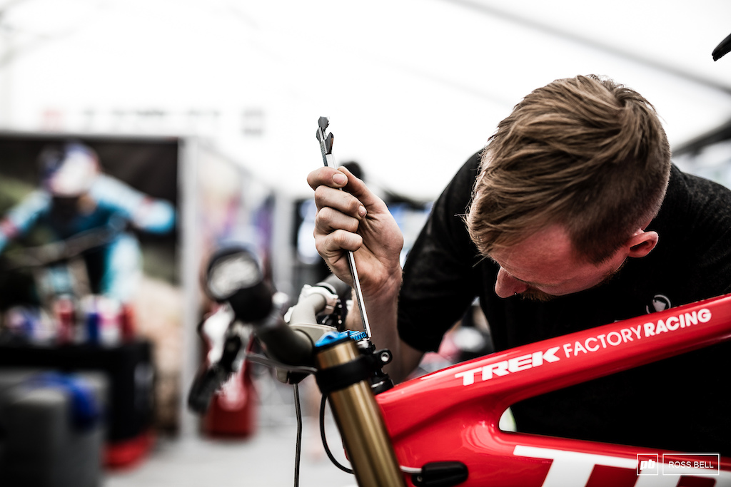 A lot of riders at the top end of this sport can be super sensitive to small changes in their setups. Nothing is left to chance in the Trek pits.
