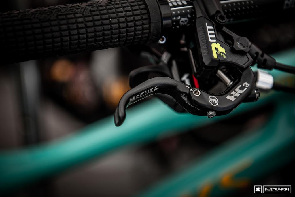 The Magura levers on Finn Iles bike for comparison sake.