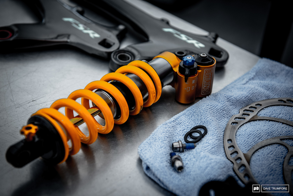 The golden ticket of suspension getting prepped for the weekend in Leogang.