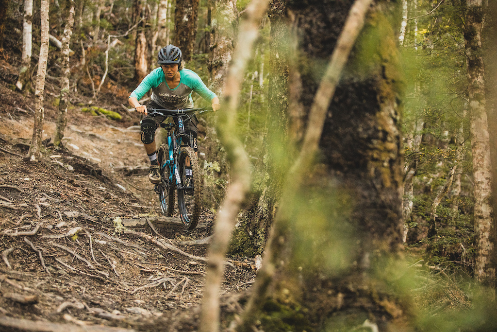 Charlotte Jane Frost rides the Hei Hei Trail