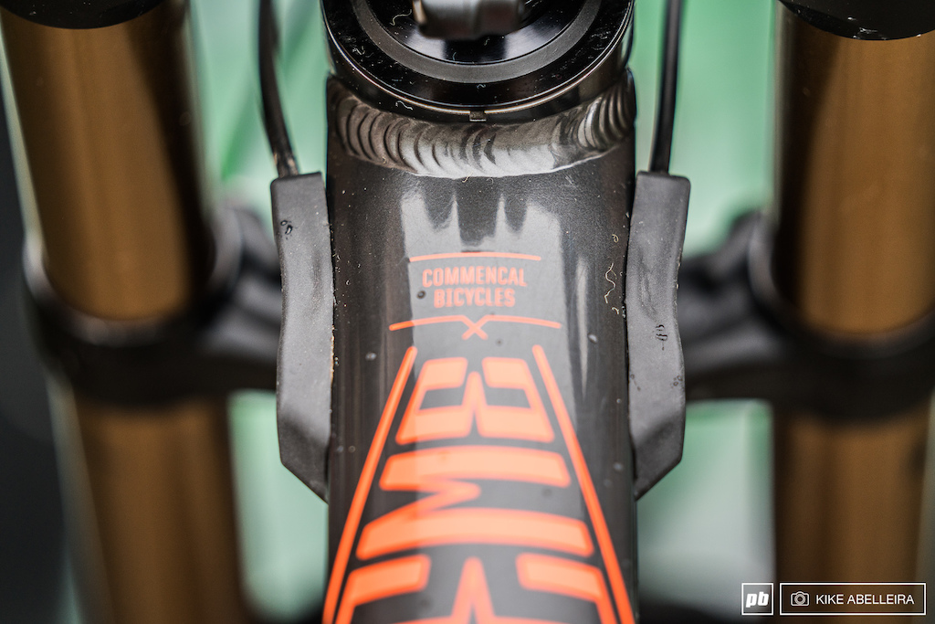 Commencal Supreme DH 29 Review - used and abused fork bumpers