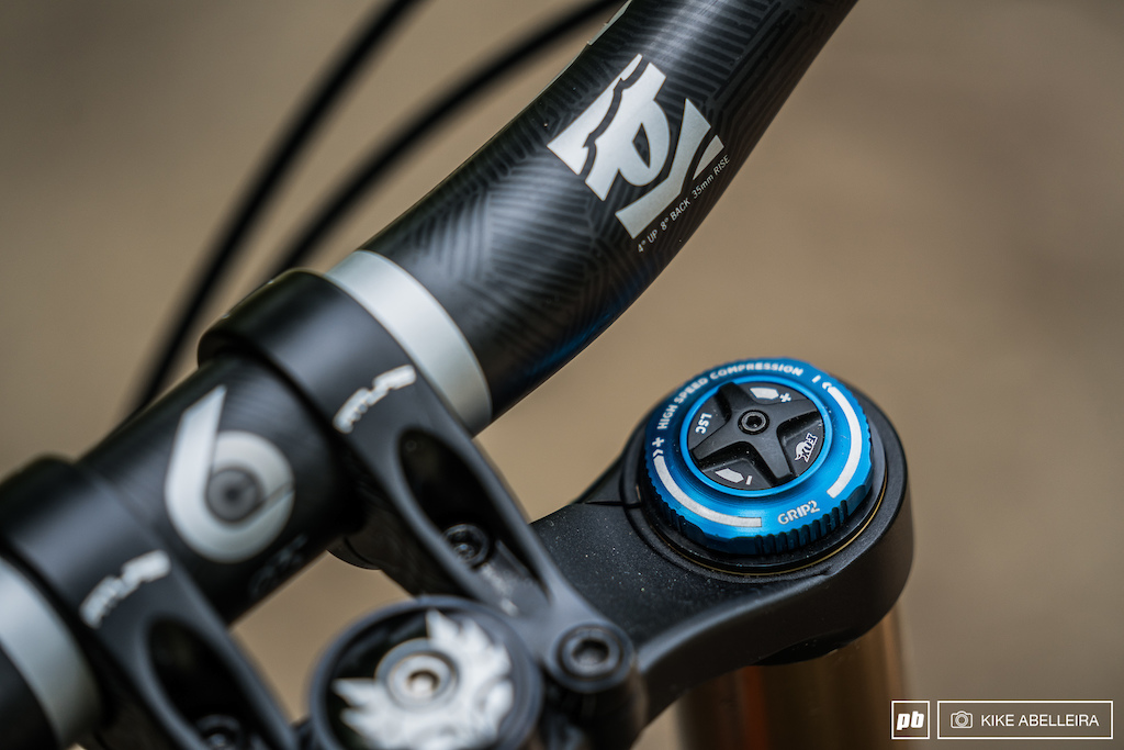 Banshee Legend 29 Review - The Legend came with the 2019 Fox 49 the Grip2 damper now has high and low speed rebound and compression adjustment.