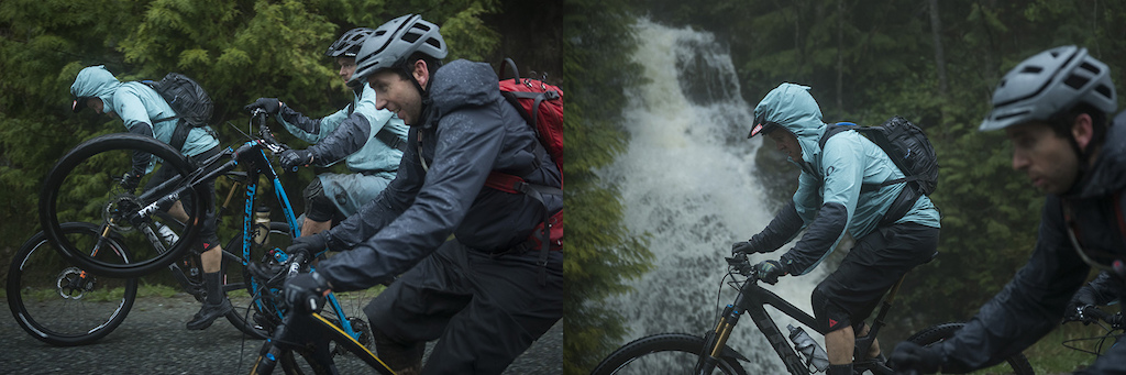 Andrew Shandro, Joe Schwartz and Aaron Bradford complete the triple crown on Vancouver's North Shore, BC.
