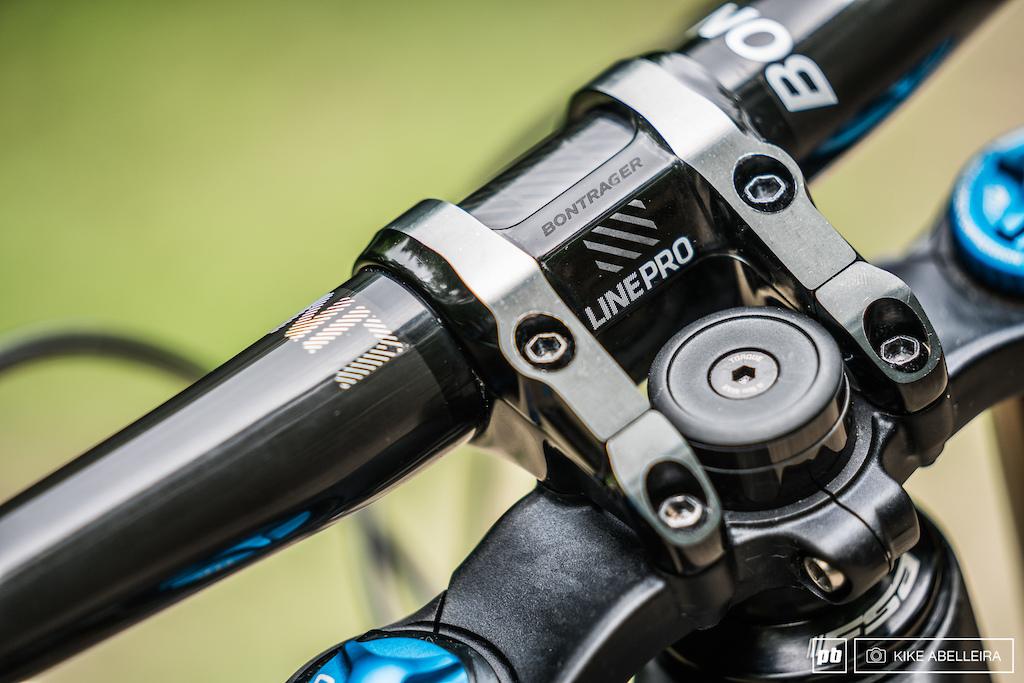 Trek Session 9.9 Review - Bontrager LinePro direct mount stem and 35mm diameter handlebar