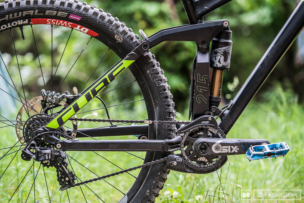 Cube Stereo DH 29 Review - driveside rear triangle