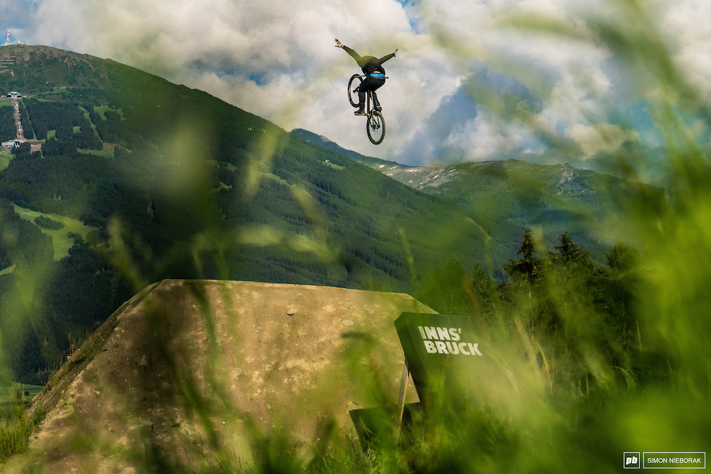 The one and only, Nicholi Rogatkin. He did it again - won the battle of the tricks and nerves with all the other riders of Crankworx Innsbruck.