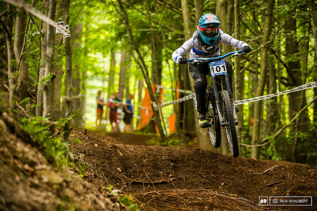 Monika Hrastnik is just coming of her first world cup podium in Leogang and is on a high like no other