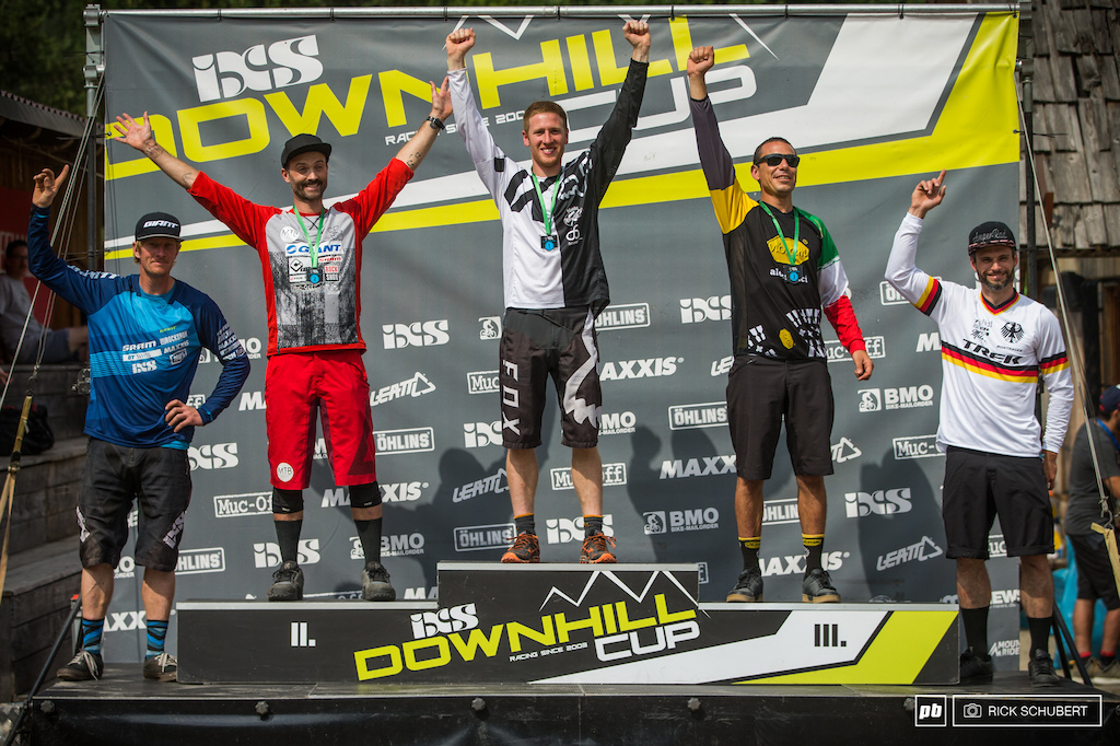 Pro masters podium with Benjamin Herold, Mads Weidemann, Billy Caroli, Fabrizio Dragoni and Dominik Dierich
