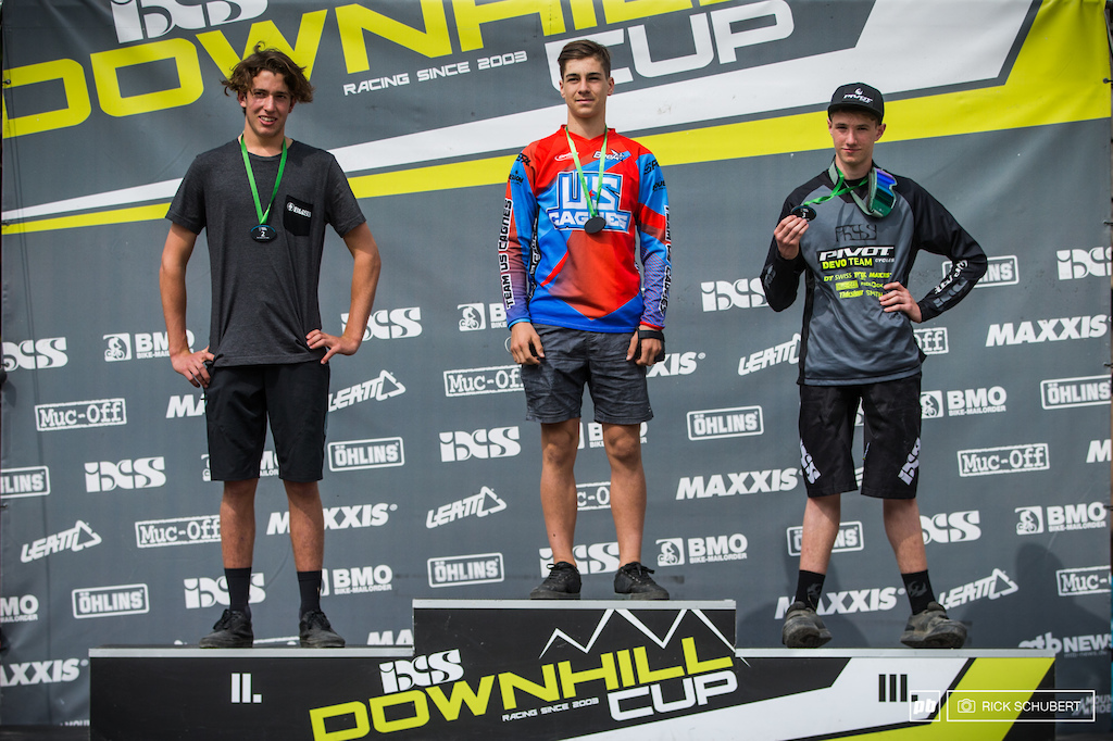 Pro U17 male Podium with Blake Ross, Antoine Rogge and Benjamin Beck