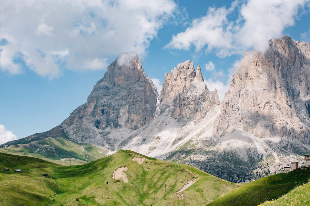 The view from Passo Sella.