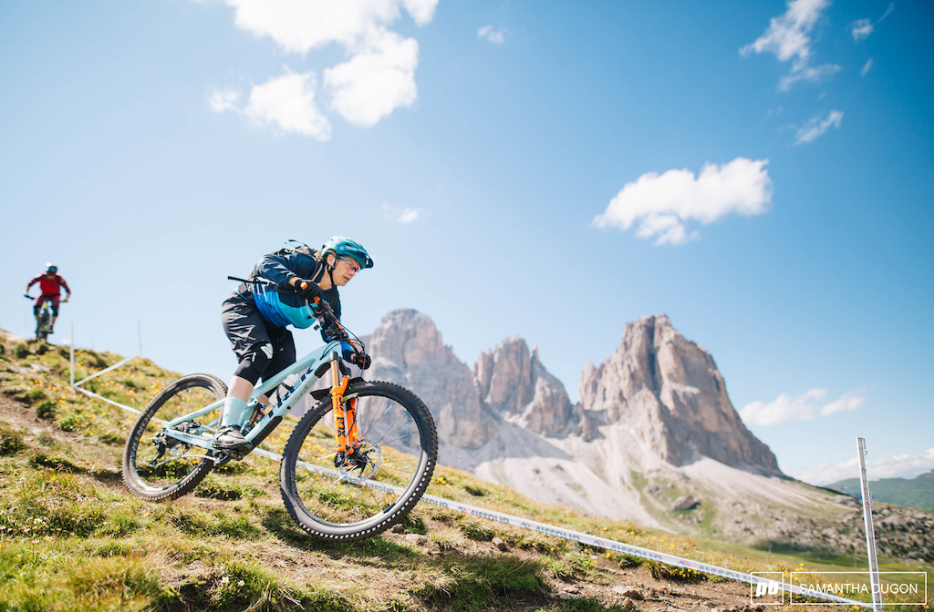 Tracy Moseley getting a taste of the trails for the first European Continental round.