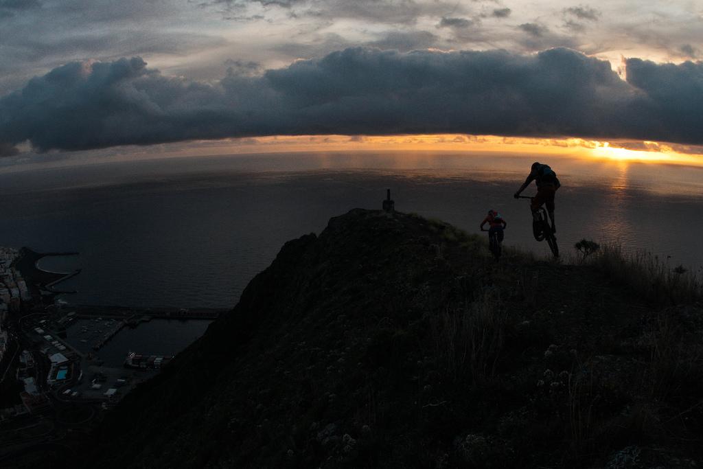 The trail down to Santa Cruz de La Palma the capital of the Island