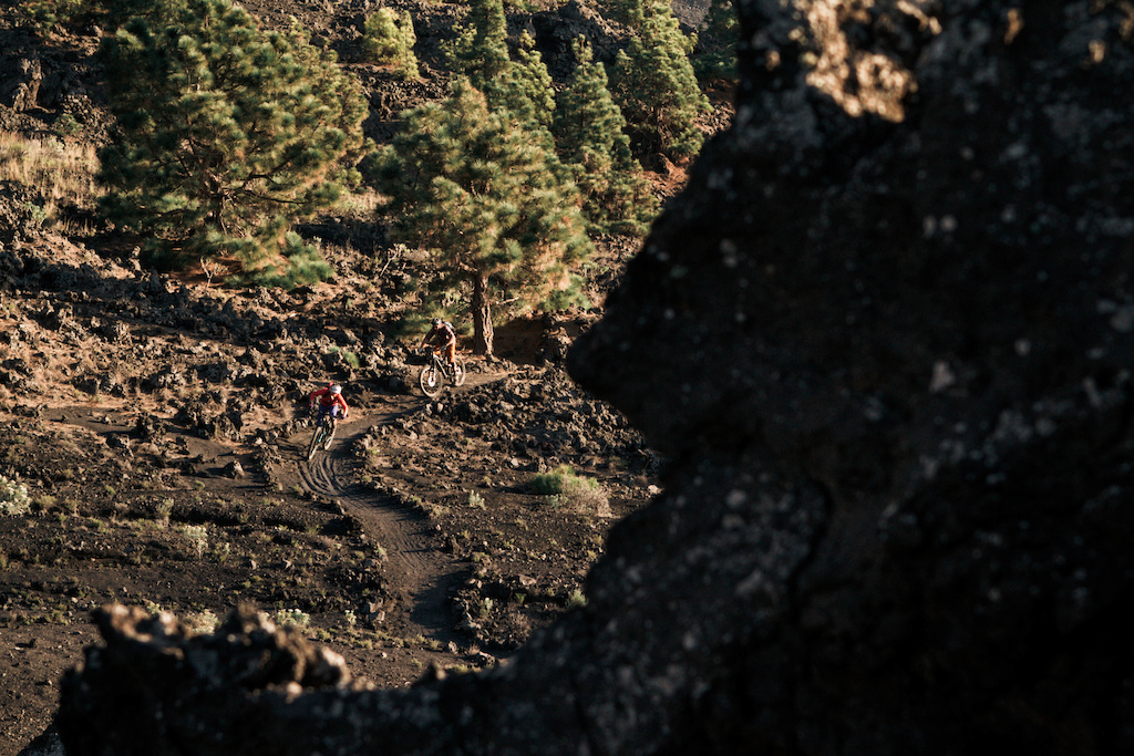 The mix of black volcanic sand and green Pine trees is the landscape of the west of the island...