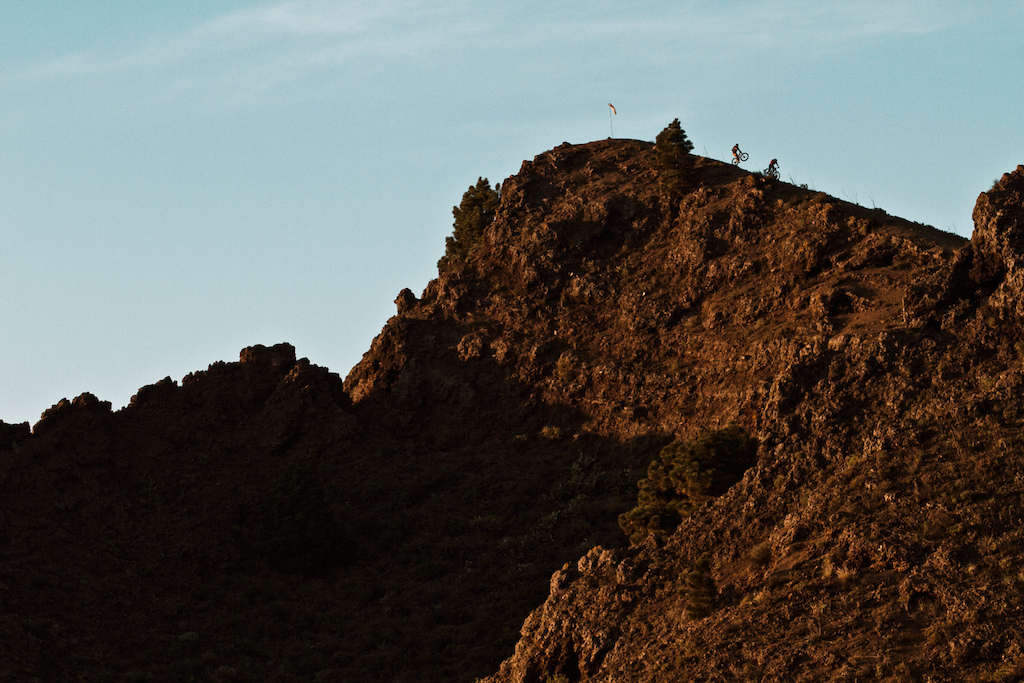 The volcanic activities created a landscape like this...