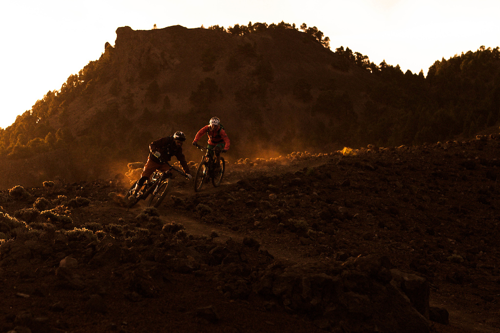 Sunrise on the top of the Mountains on La Palma.