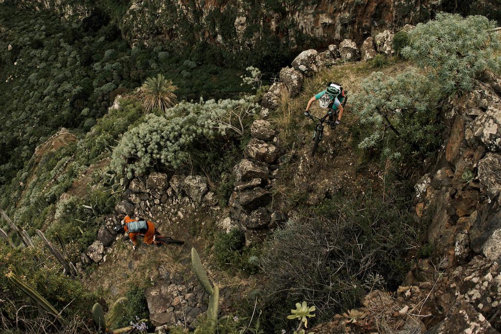 Down the Barranco the deep valley close to El Tablado.