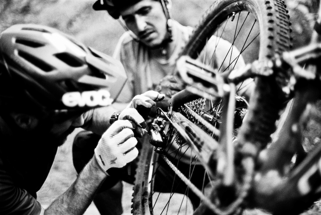 The rough trails are hard for the Bikes.