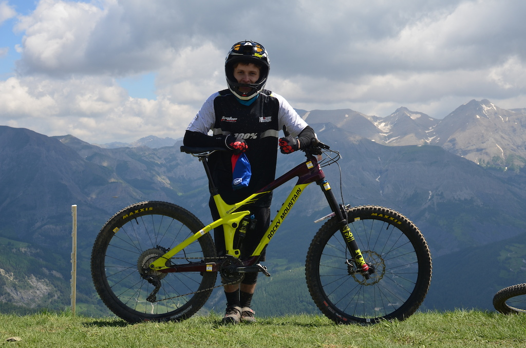 Levy Batista on his Rocky Mountain came 11th on the overall