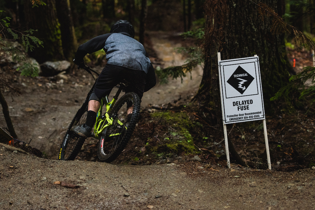Delayed Fuse Creek Zones current Flagship tech trail offers fast riding with no shortage of soft dirt littered with challenging roots.