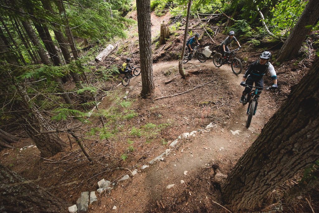 No whistler trail ride is without its climbs