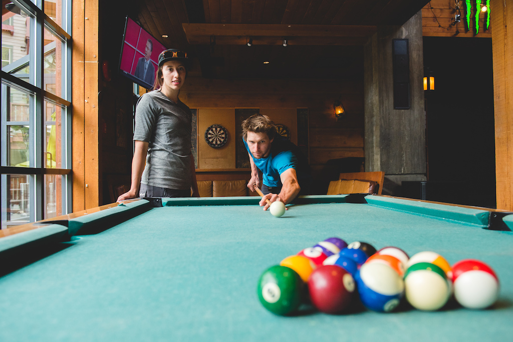 Great atmosphere and a pool table found at Dusty s in Creekside