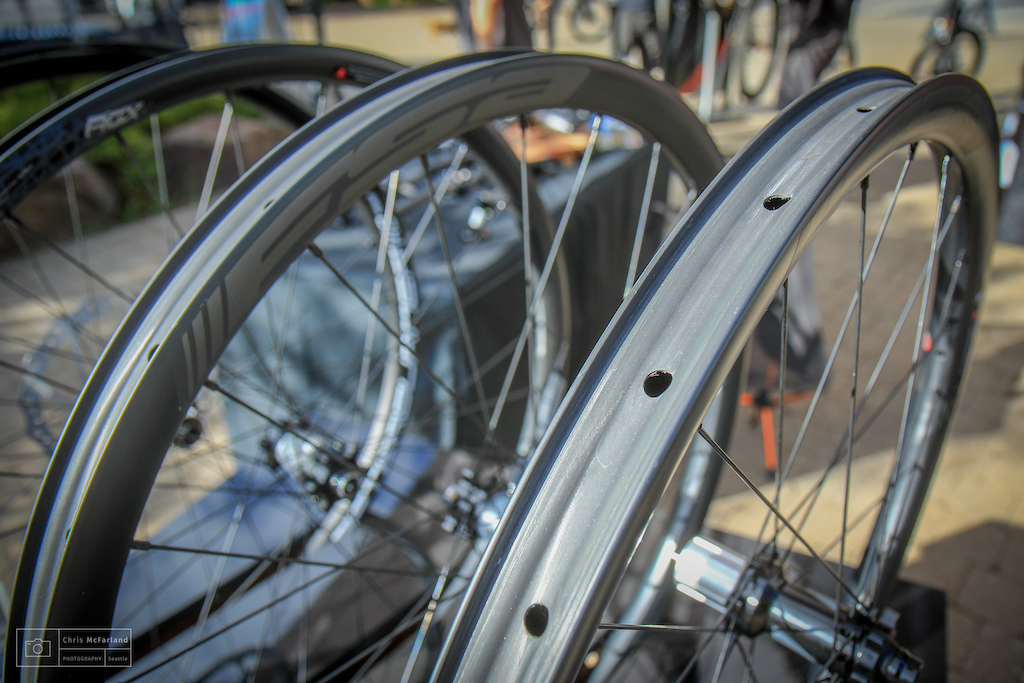 FSA snuck out some fancy new carbon wheels.