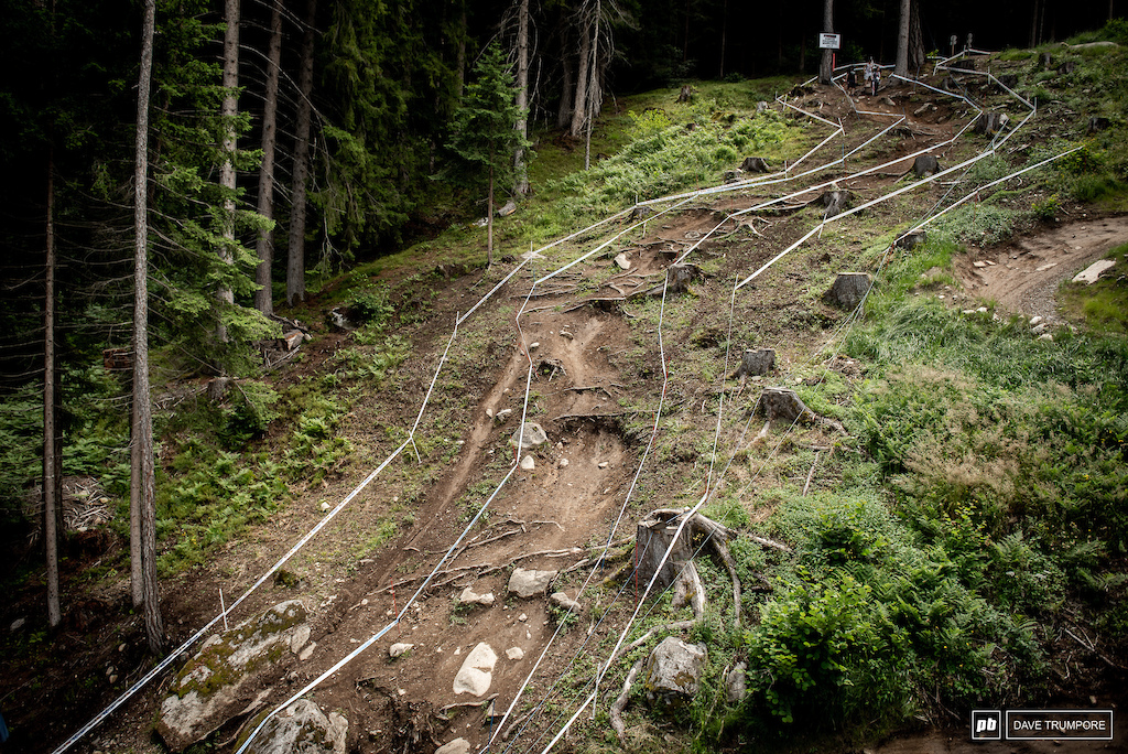 Rarely straight and never smooth Val di Sole s DH track is one of the best on the circuit.