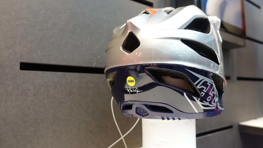 The rear of the helmet looks very sleek