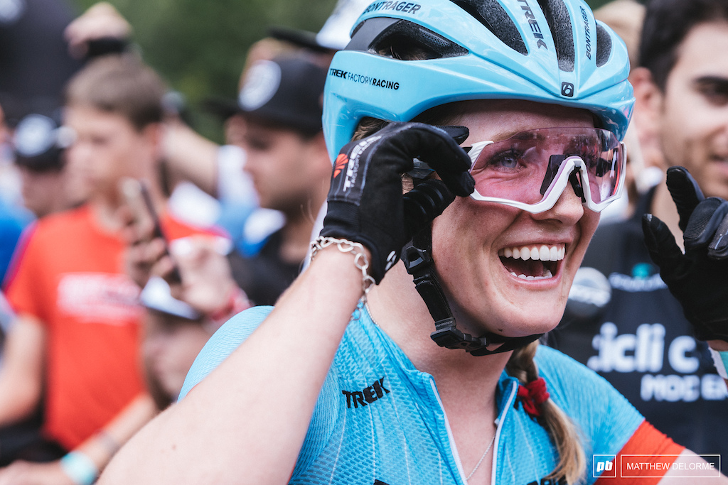 The break out ride from Ellen Noble had her all smiles at the end.