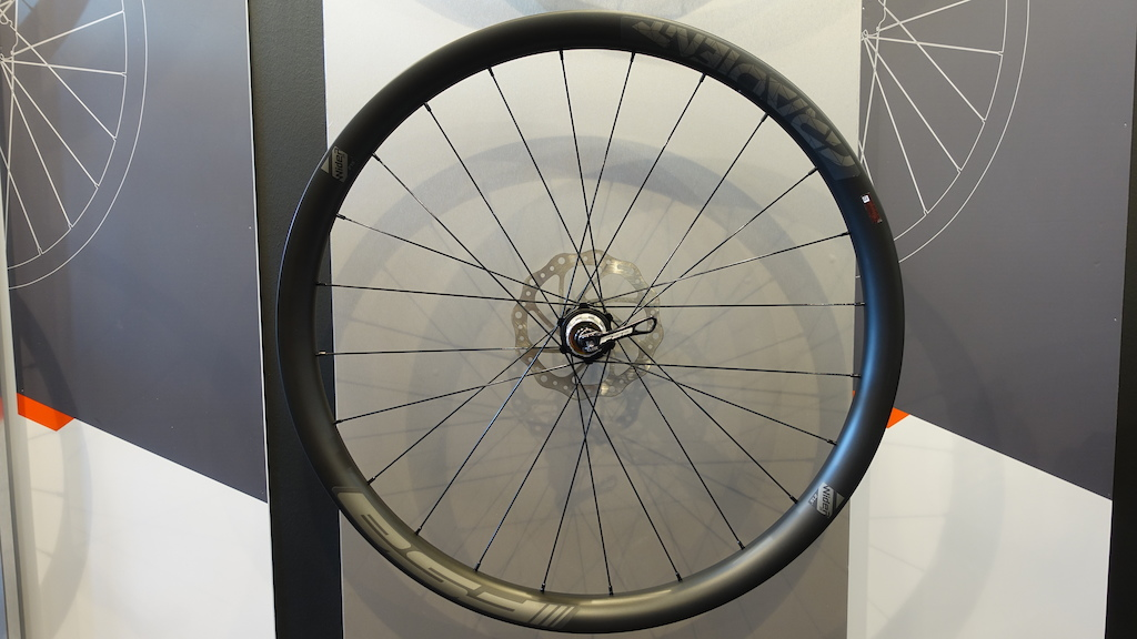 The Gradient is FSA s carbon enduro wheel and is 35mm wide.
