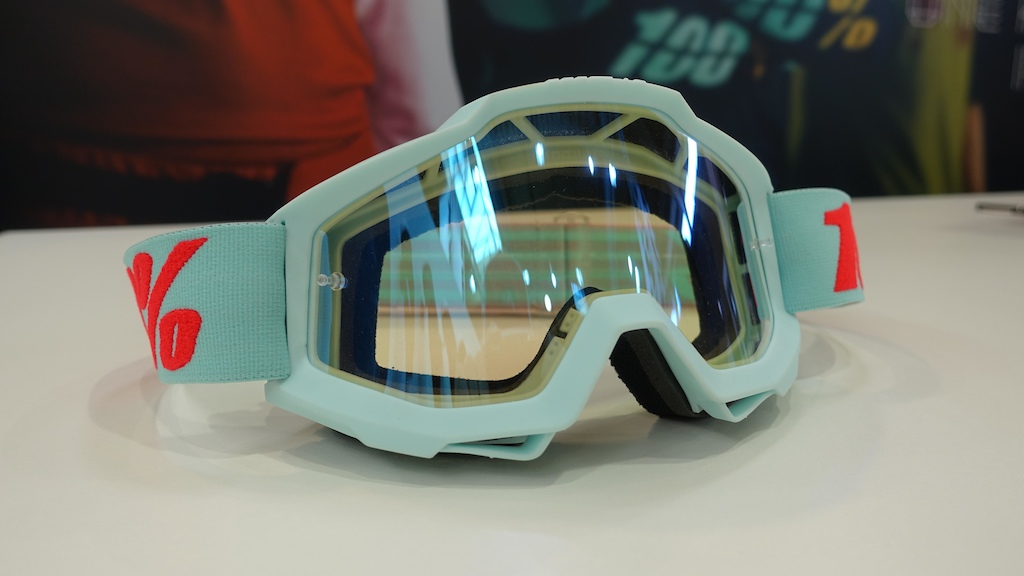 100 s bold colour combinations are eye catching The Accuri goggle wears light blue well.
