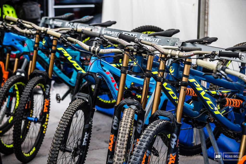 Pivot are going to need a bigger rack soon with each rider having upwards of 3 bikes each.