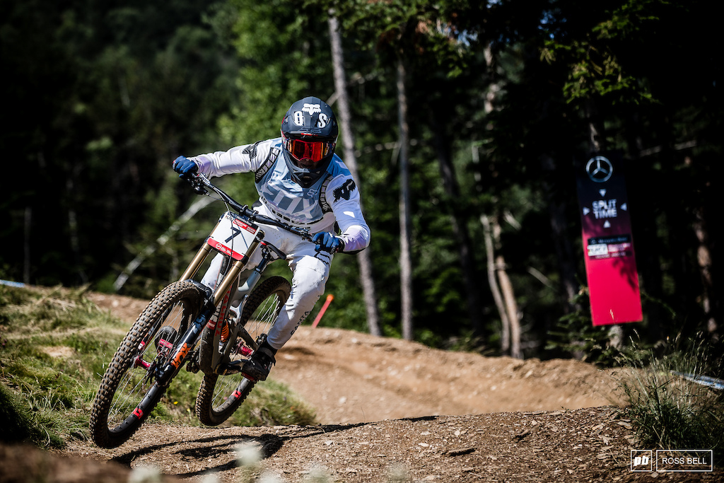 There's way more to Loris Vergier's 11th place finish than first meets the eye. A crash towards the bottom of the track snatched away the possibility to join team mate Luca Shaw up the top.