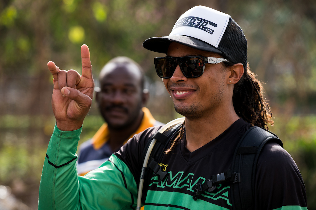 Sanchez Hubbard was a BMX rider from Ocho Rios. One day Andy Giles noticed his bike skills and gave him a moutain bike and after a few years of working as a guide for the Fat Tyre Festival Sanchez is now living and riding in the USA.