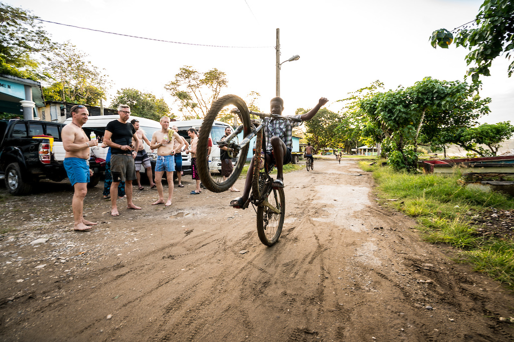 A Jamaican boy riders a Niner RIP 9 RDO at the 2018 Jamaica Fat Tyre Festival.