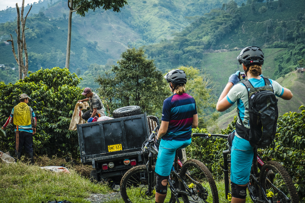 Anita and Caro Gehrig of Norco Twins Racing explore the coffee trails ahead of the Enduro World Series in Colombia.
