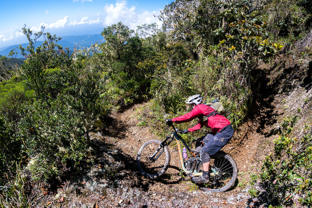 Kirt Voreis rides his bike on the Blue Mountain Trail at the 2018 Jamaica Fat Tyre Festival.