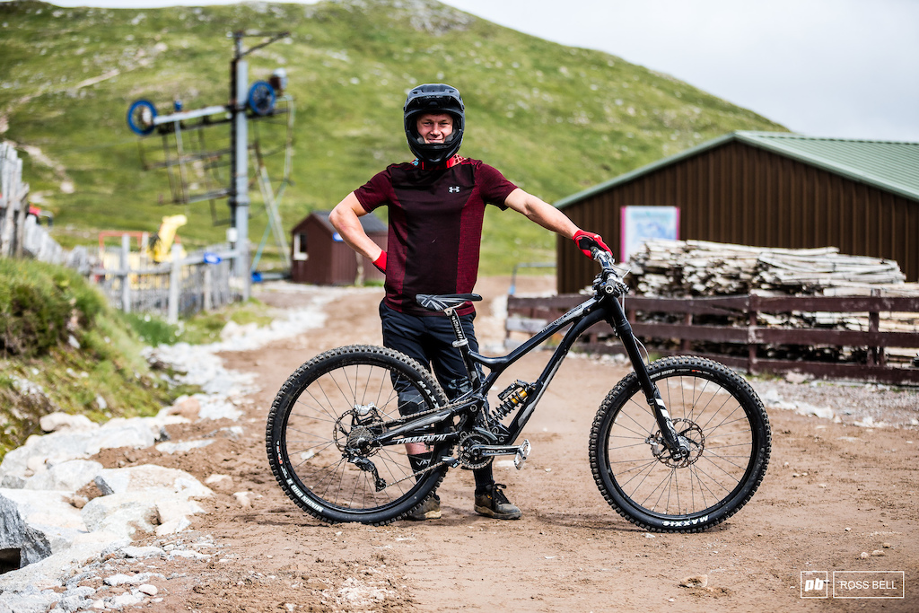 Euan Thomson and his Commencal Supreme.